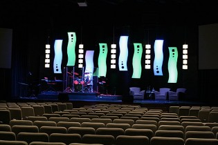 More Dangling Lights Church Stage Design Ideas Images