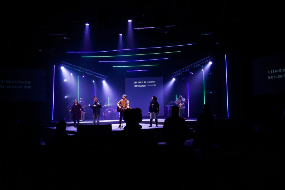 Over And Beside Church Stage Design Ideas Scenic Sets