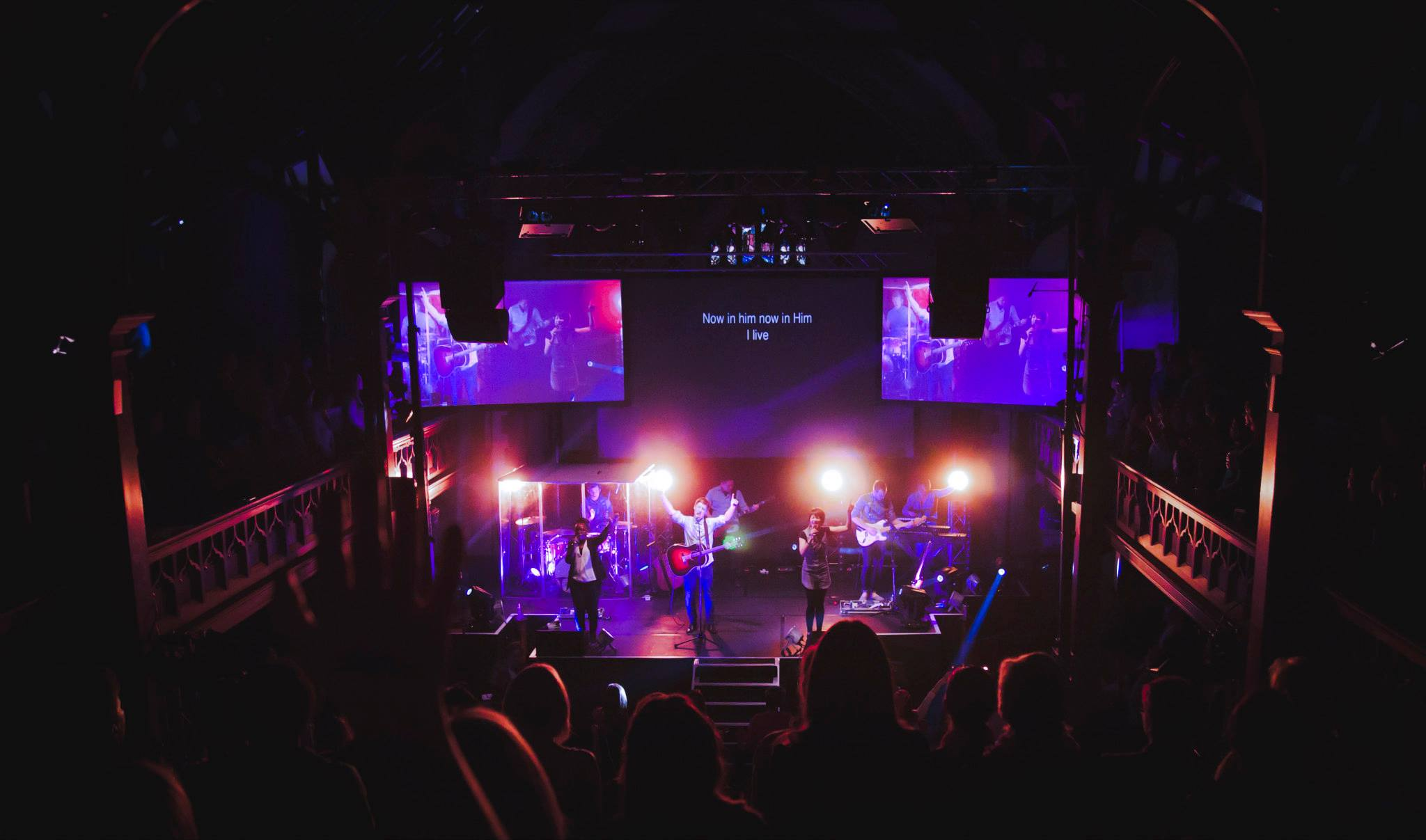 Projection and Lights | Church Stage Design Ideas