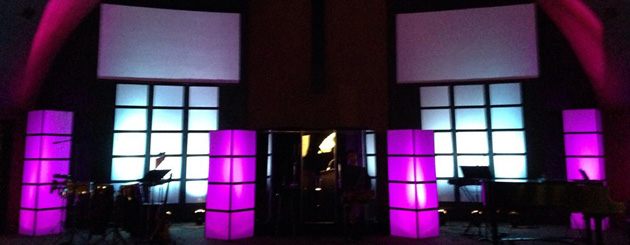 Blocks And Grids Church Stage Design Ideas
