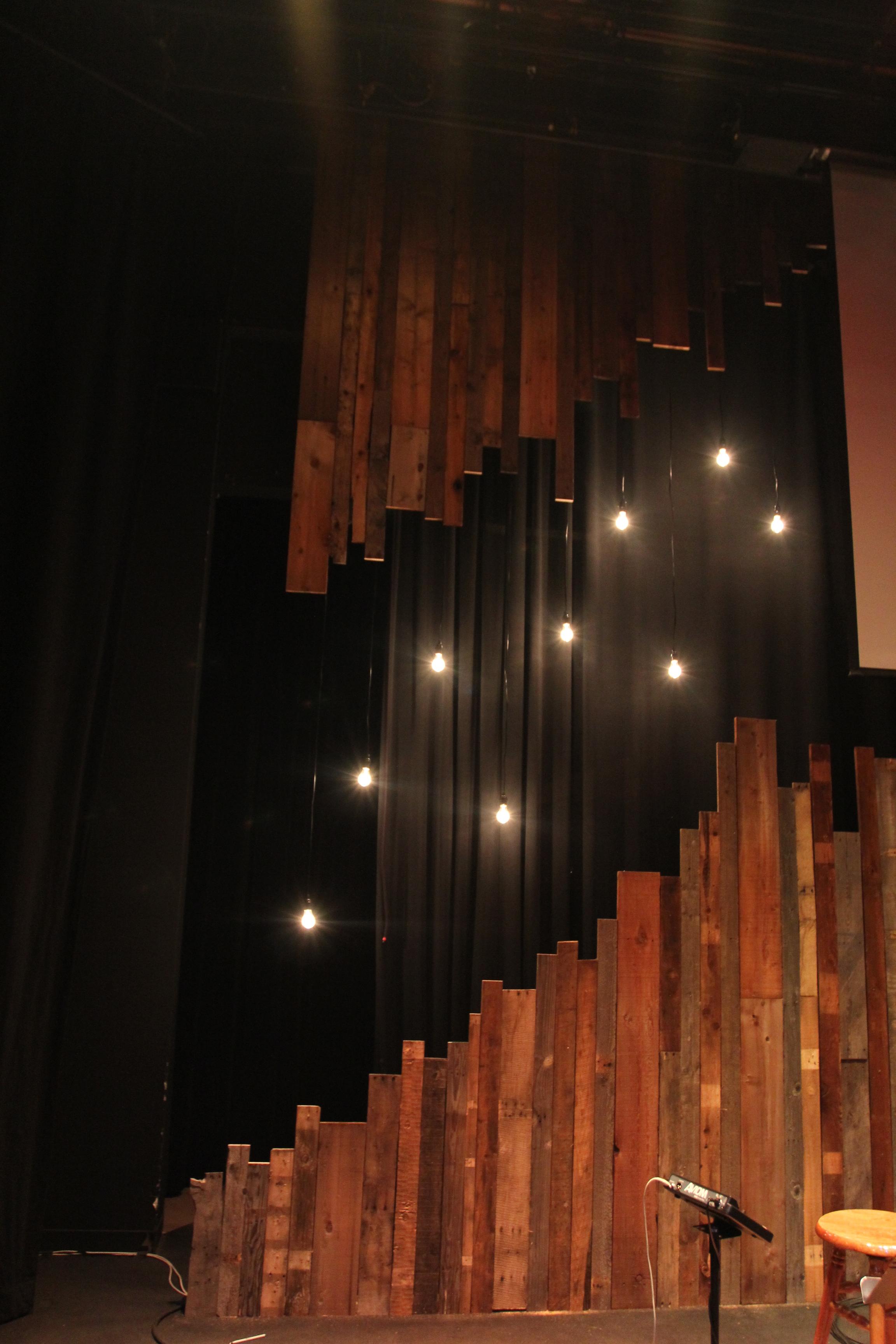 Pallet Gaps | Church Stage Design Ideas