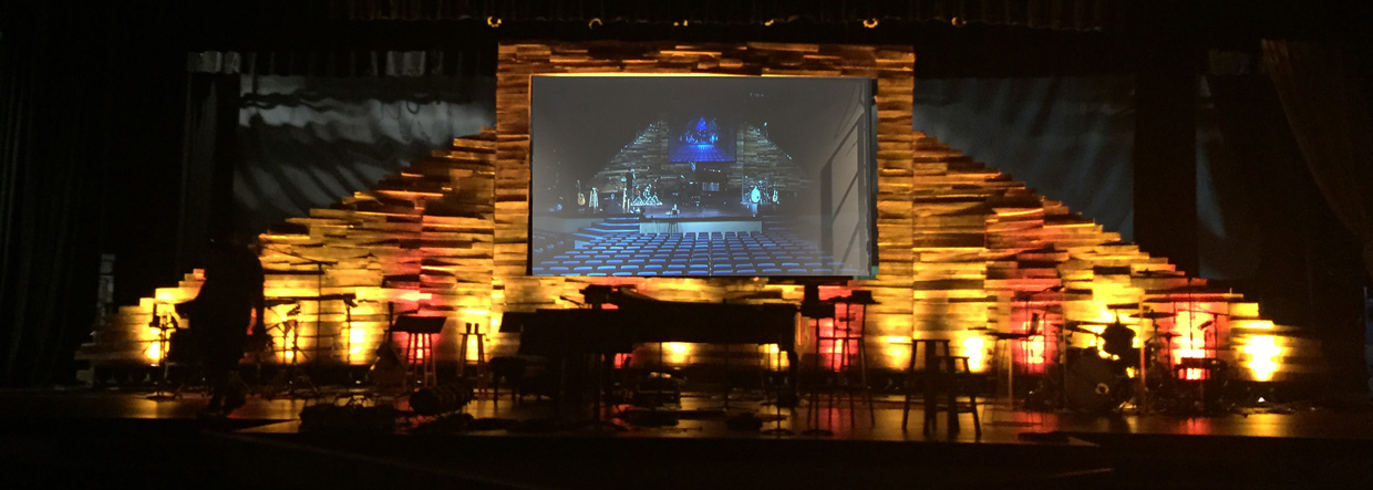 Palleted Screen Mount Church Stage Design Ideas