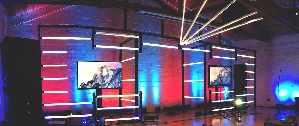 Light Bars Church Stage Design Ideas Scenic Sets And