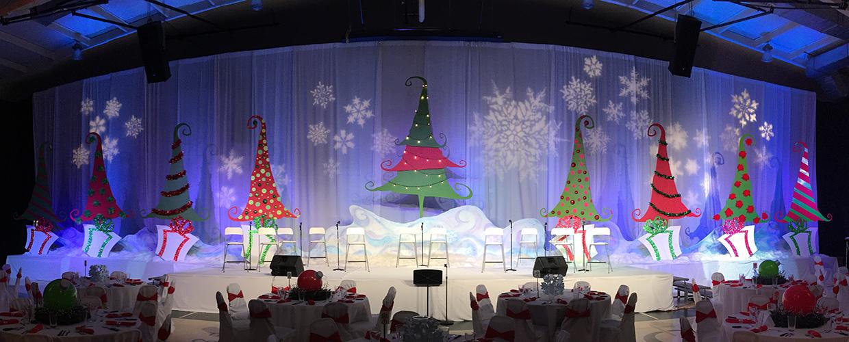 Rockin' Christmas Trees | Church Stage Design Ideas