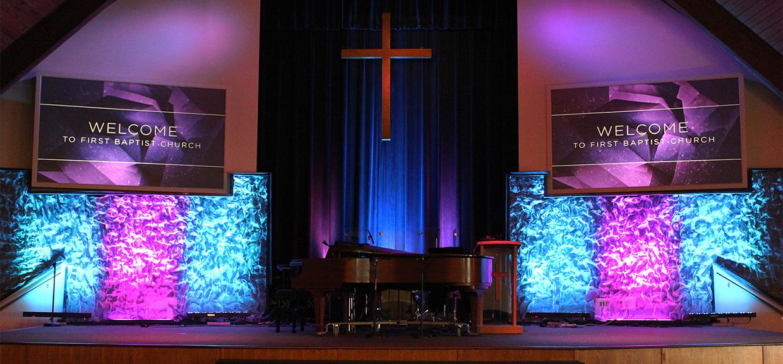 Ripple Wall Church Stage Design Ideas