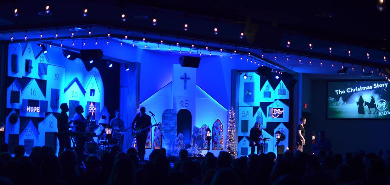 Advent Calendar Doors Church Stage Design Ideas